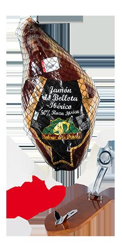 Jamón Ibérico de Bellota deshuesado 50%