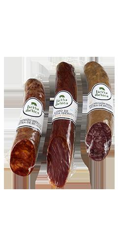Lomo, chorizo y salchichón Ibéricos de Bellota