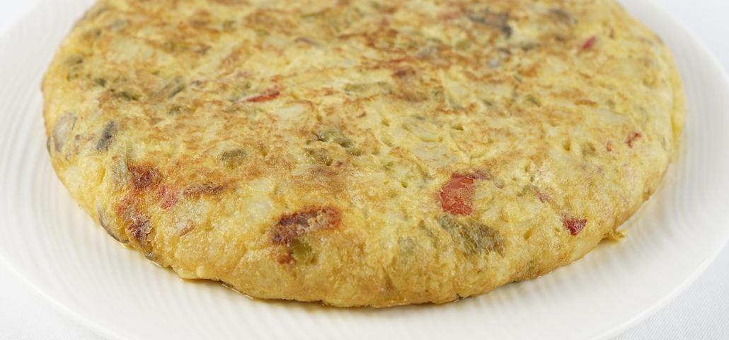 Tortilla paisana con chorizo ibérico