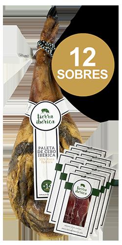 Paleta de Cebo 50% Ibérica loncheada (12 sobres 100 gr.)