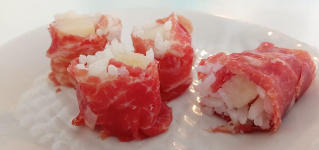 Sushi de jamón ibérico